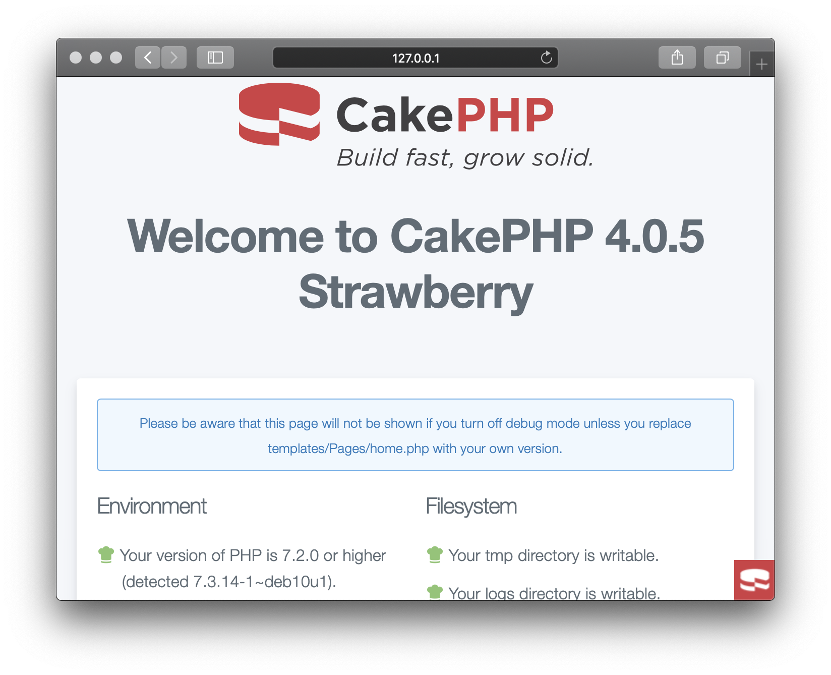 CakePHP Basic Template App on Unit
